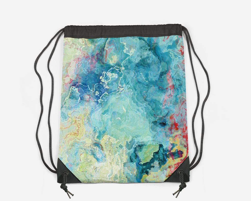 Drawstring Sling Bag, Cucumber