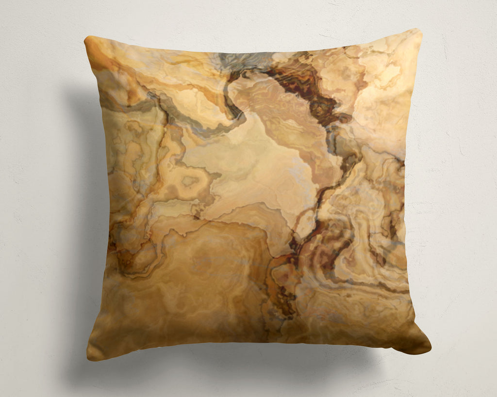 Abstract art pillow covers, 16x16 and 18x18 inches, beige, tan, brown
