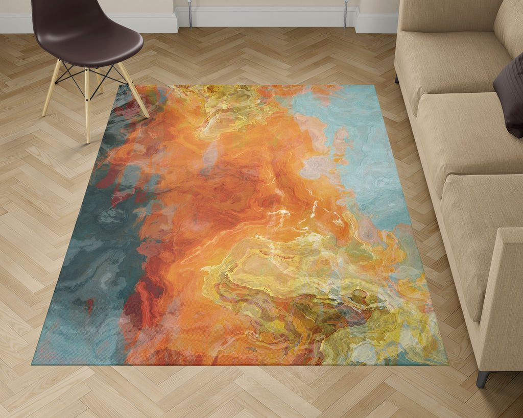 Area Rug, Electric Illusion