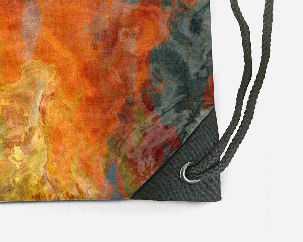 Drawstring Sling Bag, Electric Illusion