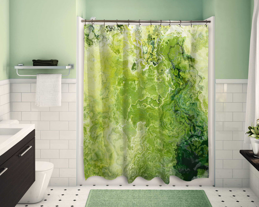 Shower Curtain, Green Daze
