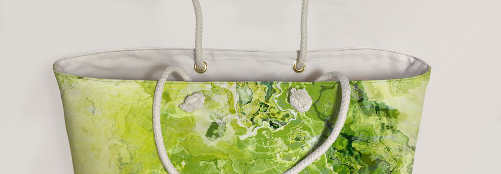 Oversized Tote, Green Daze