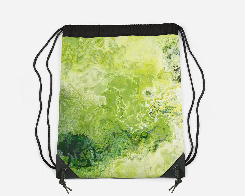 Drawstring Sling Bag, Green Daze