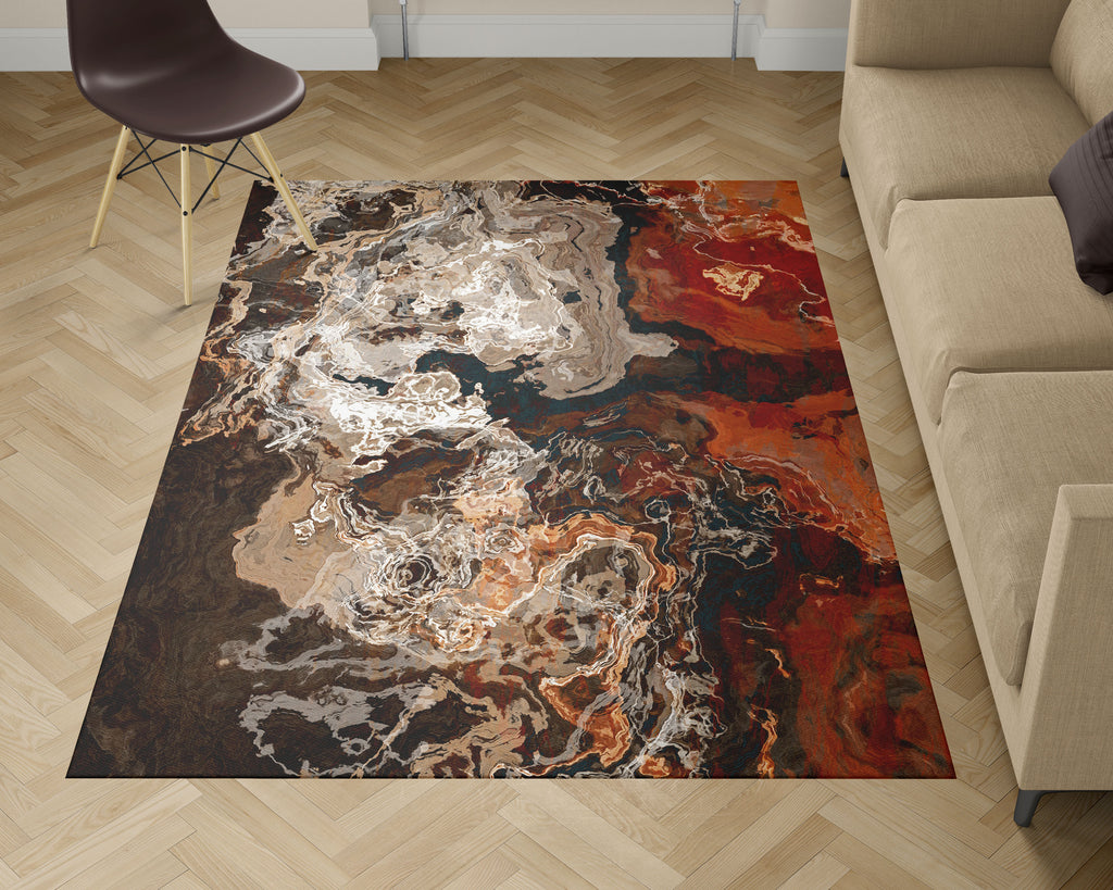 Area Rug, Hammered Copper