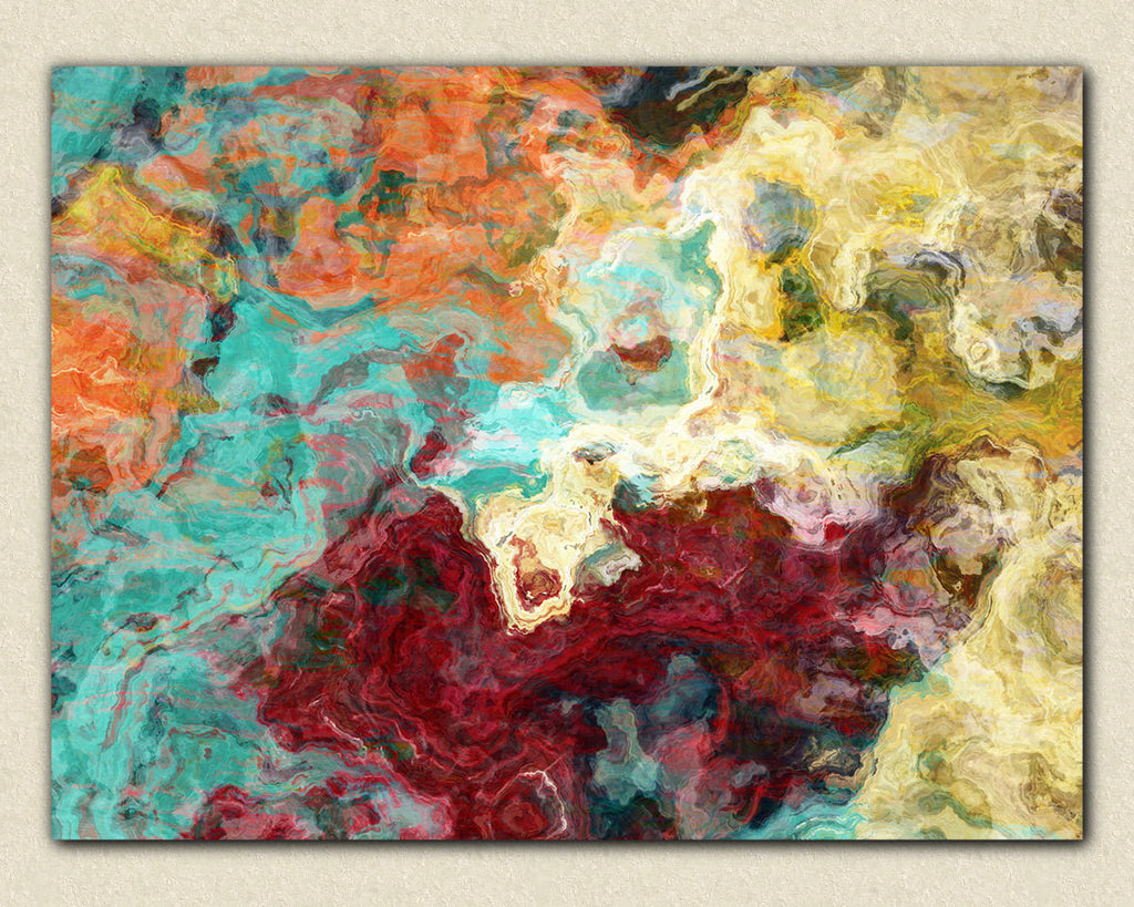 Abstract expressionism canvas print in fall colors