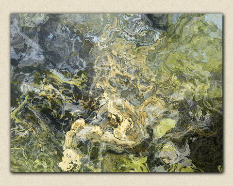 Large abstract stretched canvas print, 30x40 to 40x54 in neutral tones