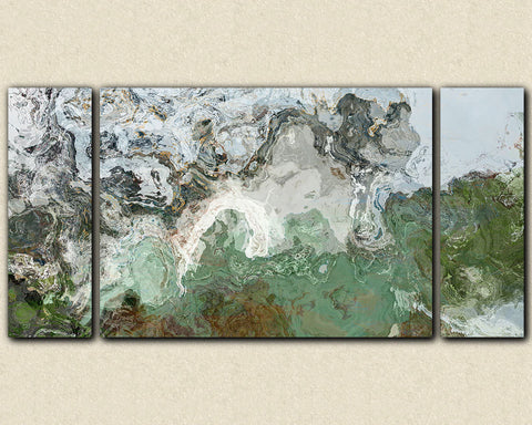 Large triptych giclee stretched canvas print abstract art