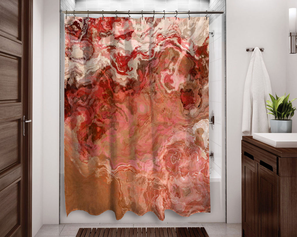 Shower Curtain, Just Peachy