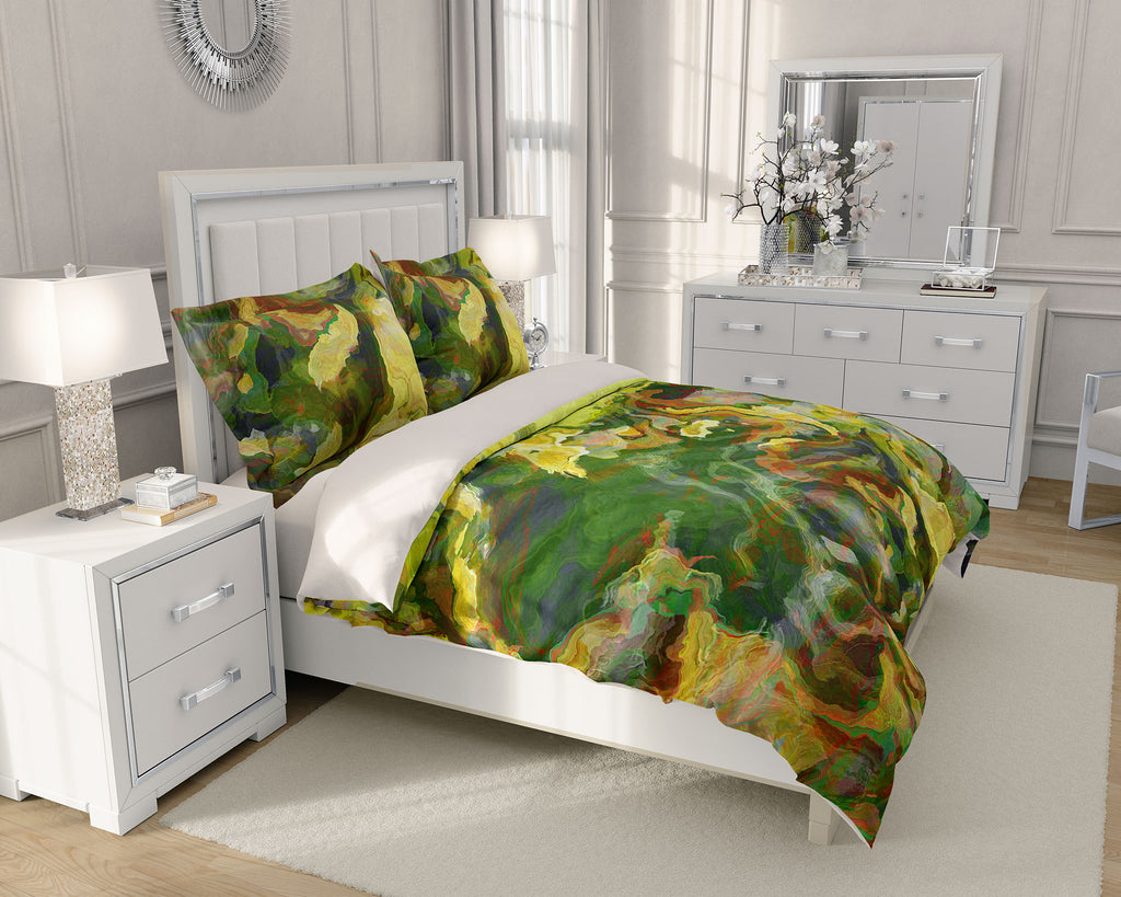King or Queen Duvet Cover, Lemon Tree