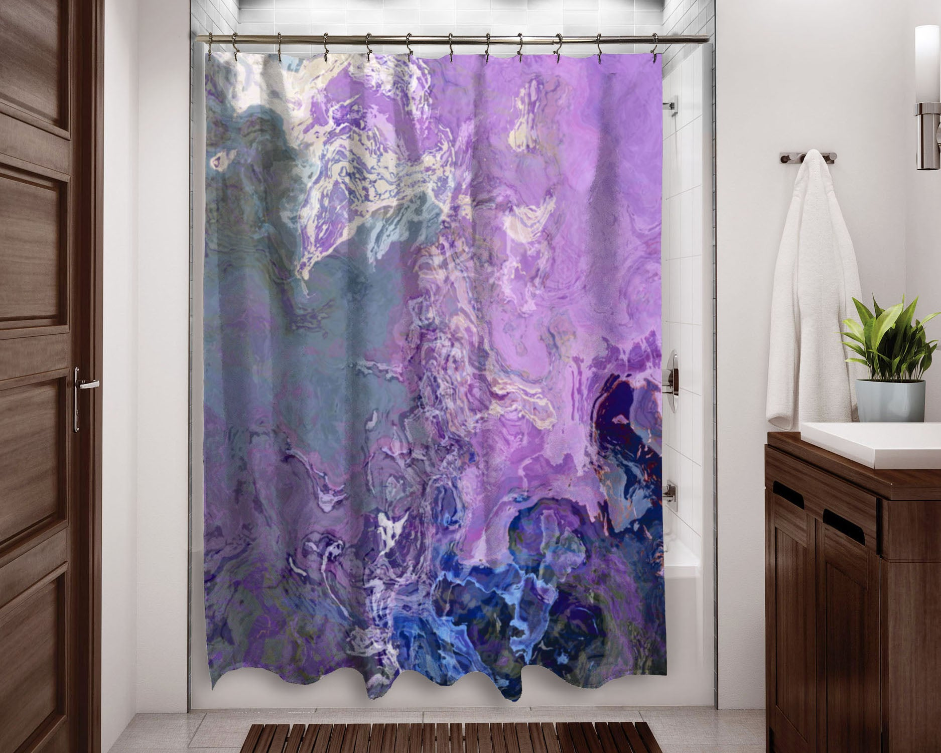 Shower Curtain Lilac Festival