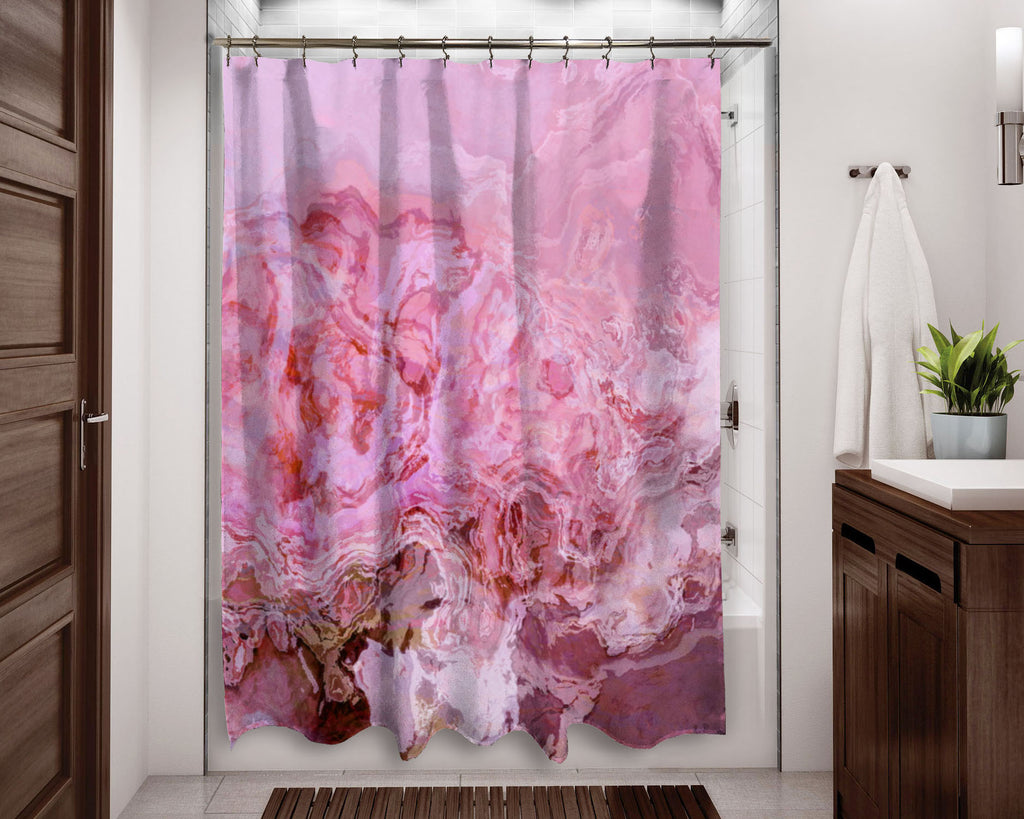 Shower Curtain, Pink Parfait