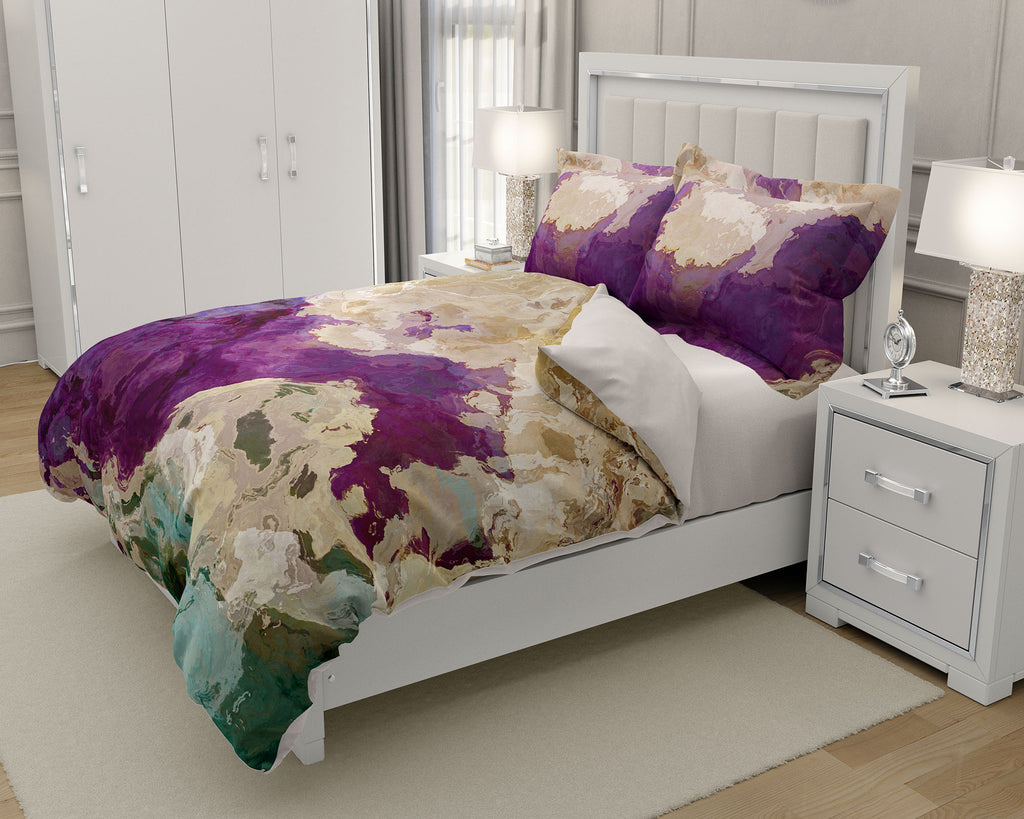 King or Queen Duvet Cover, Plum Creek