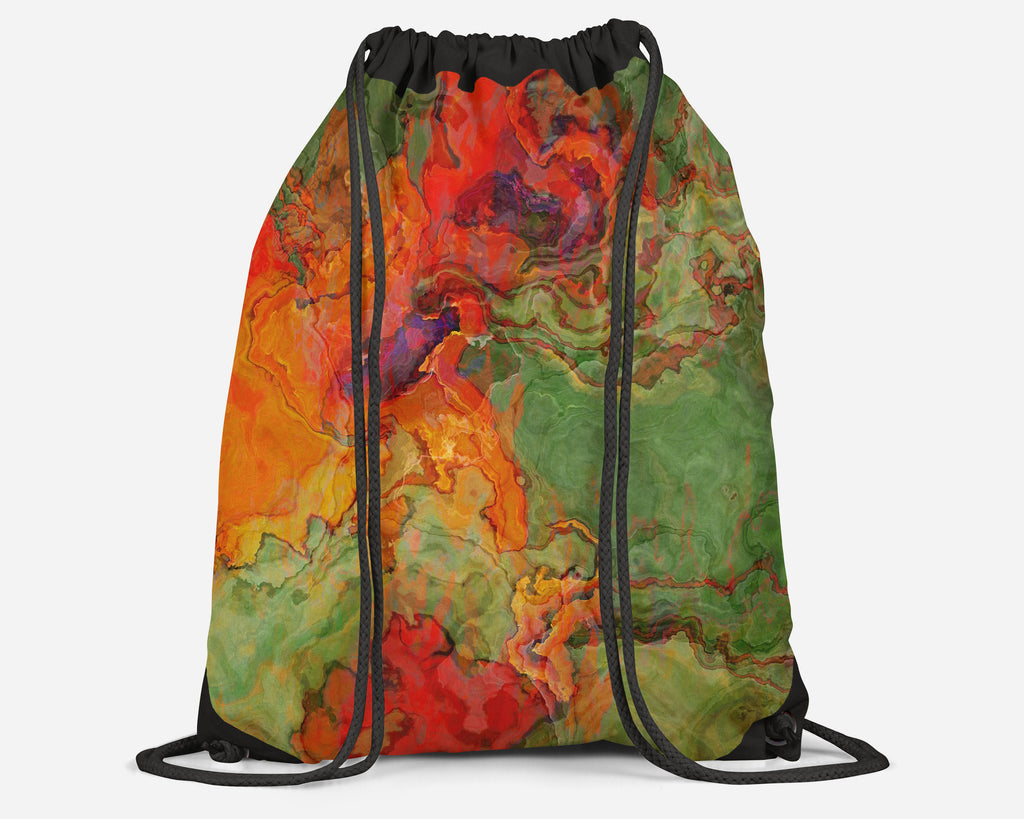 Drawstring Sling Bag, Poppies