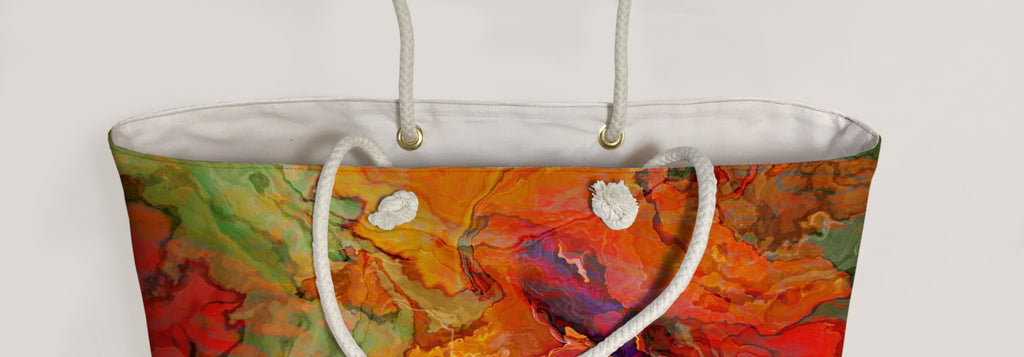 Oversized Tote, Poppies