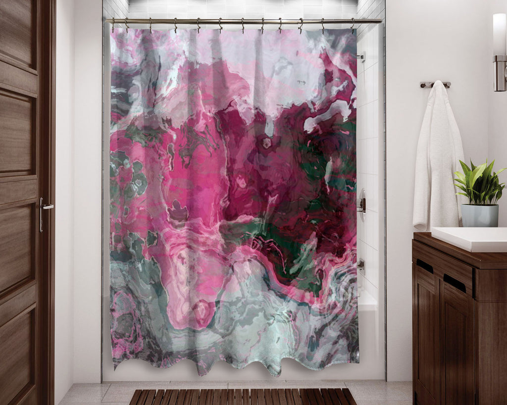 Shower Curtain, Raspberry