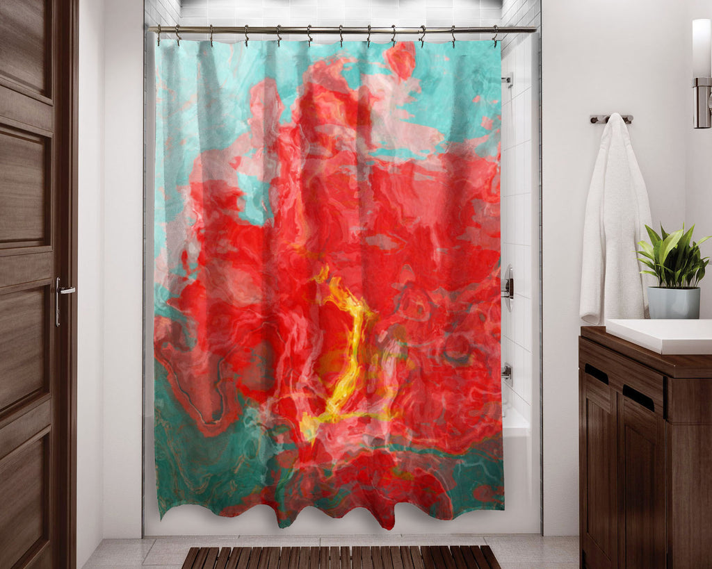 Shower Curtain, Red Hot and Cool