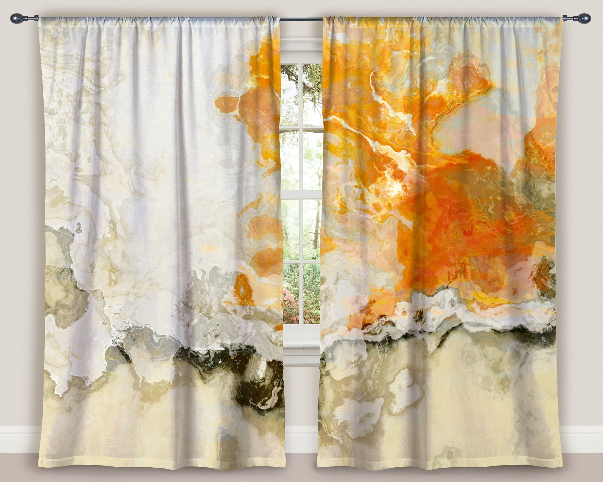 Window Curtains, Rhymes with Orange