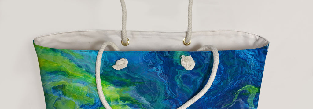 Oversized Tote, River Dream