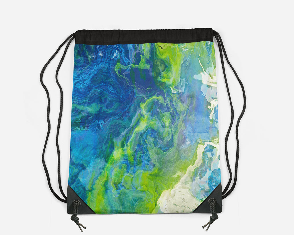 Drawstring Sling Bag, River Dreams