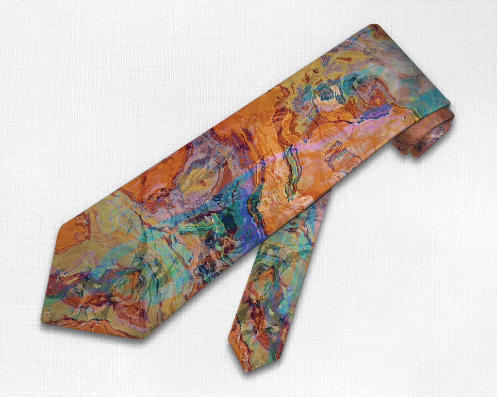 Abstract art men's southwestern tie