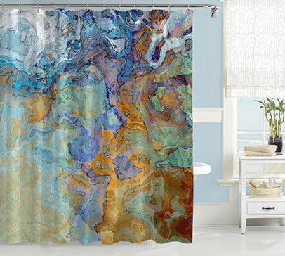 Abstract Art Shower Curtain Contemporary