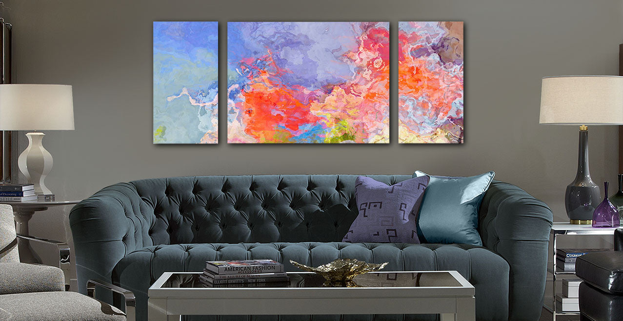 Very Large Abstract Art Canvas Print