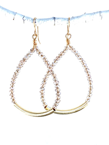 crystal bar hoops-cv44c