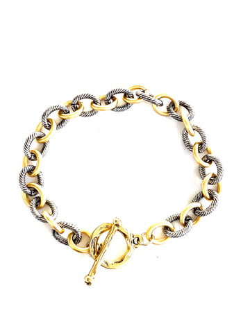 mixed link bracelet-cvb504-NEW