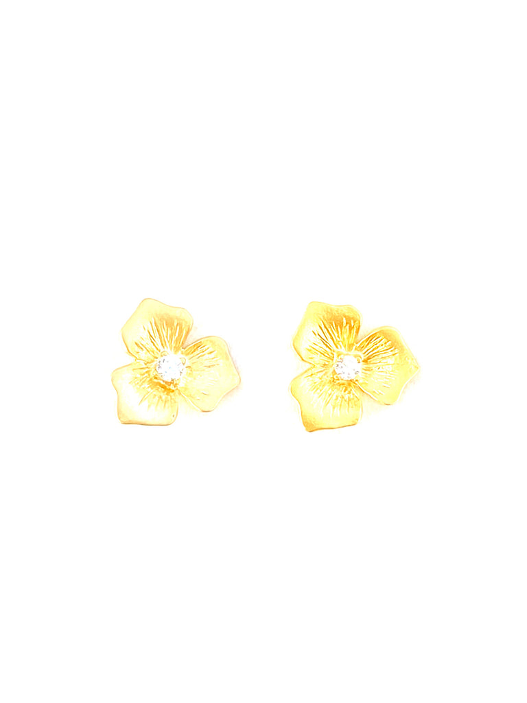 flower cz studs-cvfcz-NEW