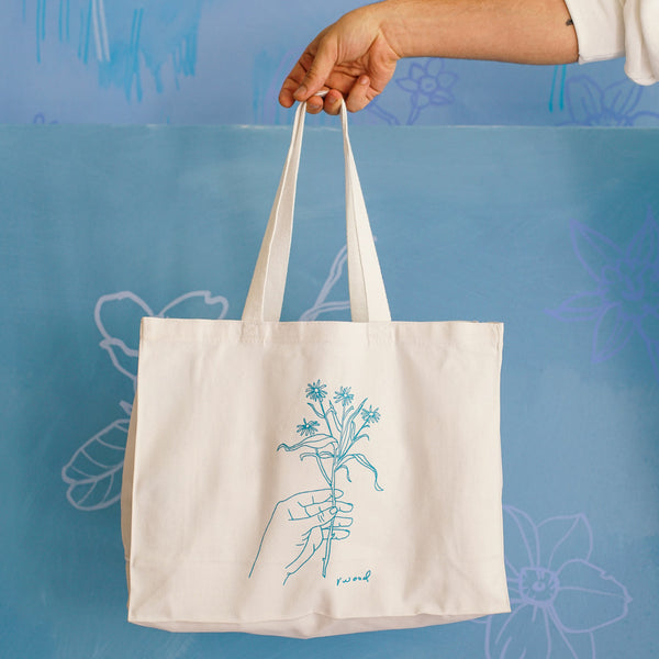 Line Drawn Tote Bag