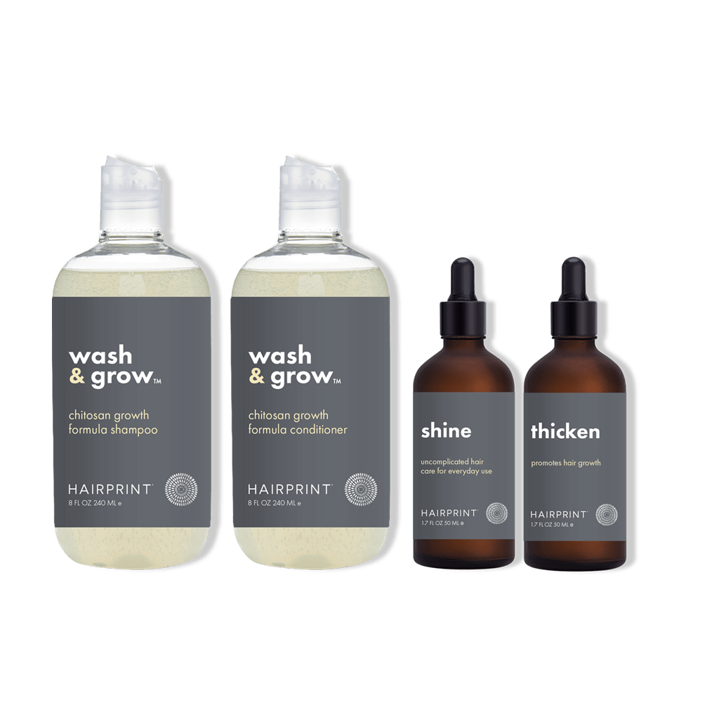 Thicken + Shine + Wash & Grow Shampoo and Conditioner set