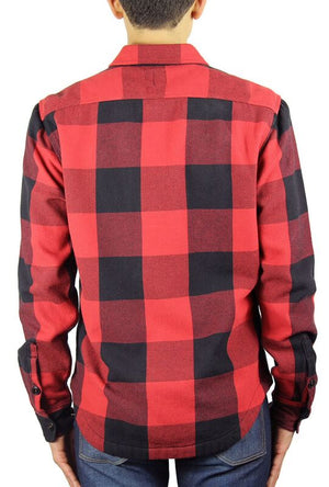 Kato Shirt Jacket Buffalo Check Red