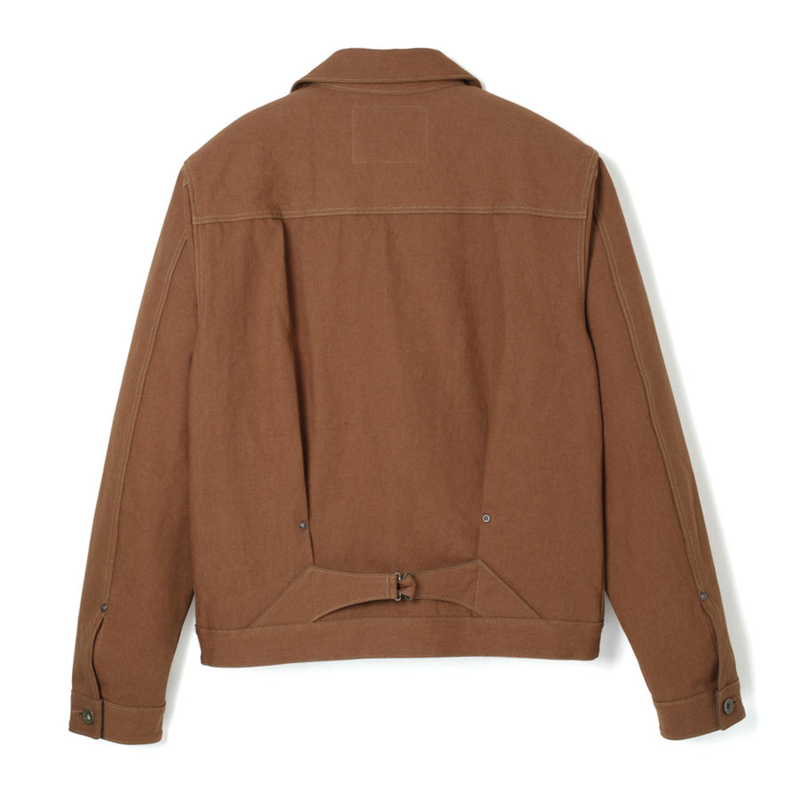 Stevenson Overalls Slinger Jacket in Brown Canvas