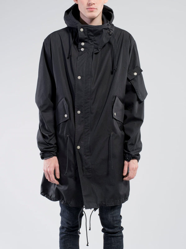 Nudie Jeans Karl Organic Parka in Black