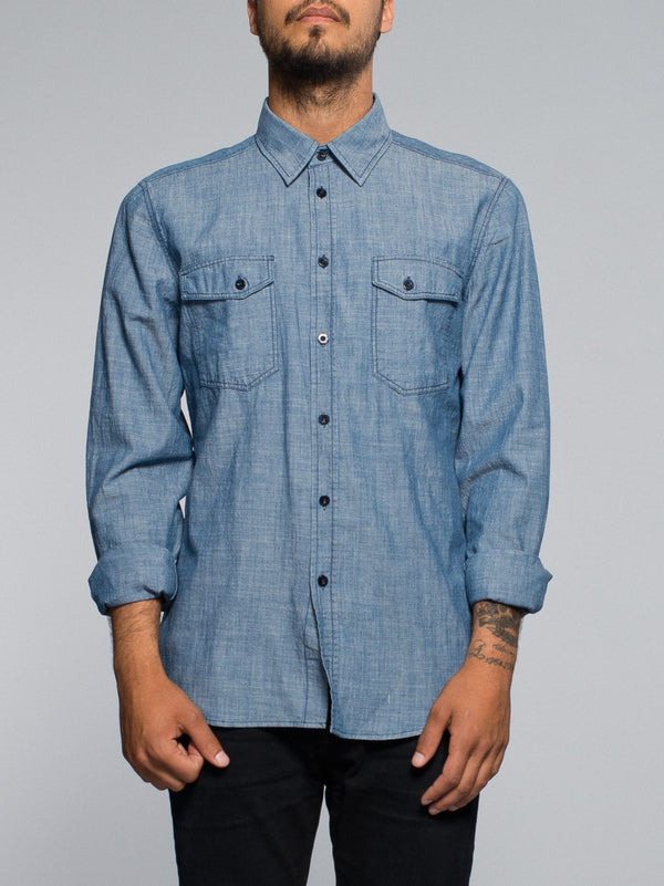 Nudie Jeans Gunnar Organic Chambray