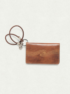 Nudie Jeans Fillesson Swog Stitch Cognac Wallet