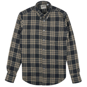 Naked & Famous Regular Shirt Soft Tartan Check Black/Cream