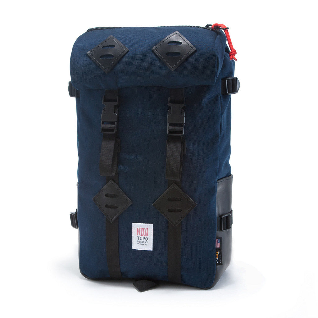Topo Designs Klettersack Navy/Black Leather