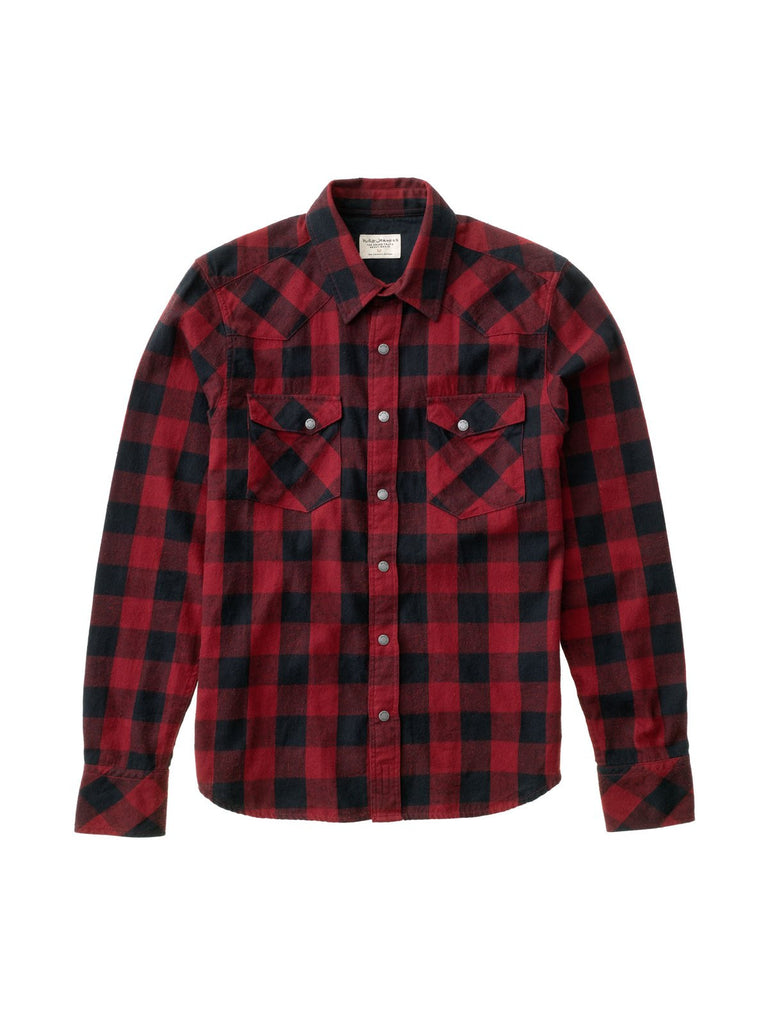 Jonis Graphic Check Black/Red