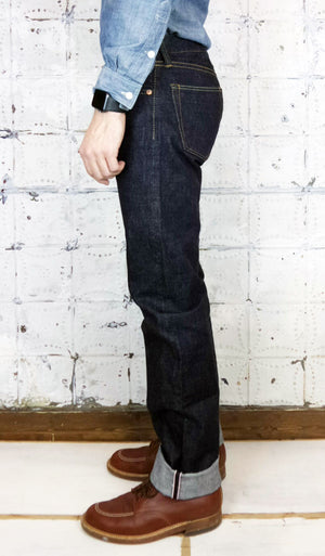 Mildblend Supply Co. X Momotaro 15.7 oz Battle Stripe Indigo