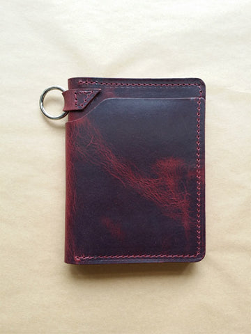 Ashland Leather Biker Wallet in Deep Flame Derby