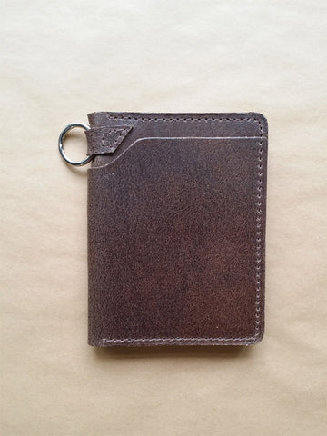 Ashland Leather Biker Wallet in Waxed Flesh Natural Chromexcel