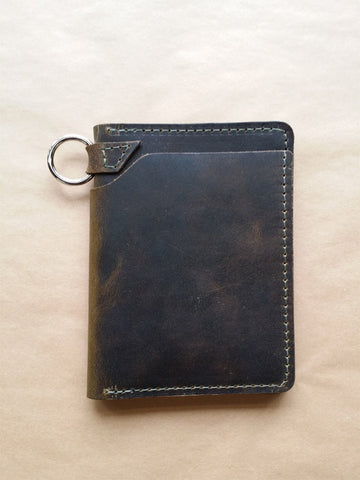 Ashland Leather Biker Wallet Dark Olive Dublin