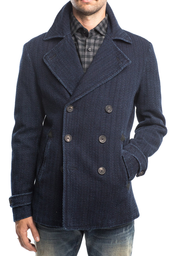 Shockoe Herringbone Peacoat