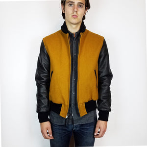 Mildblend Supply Co X Golden Bear Varsity Jacket Gold/Black