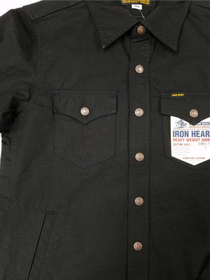 Iron Heart IHSH-187 Black CPO Ripstop Shirts
