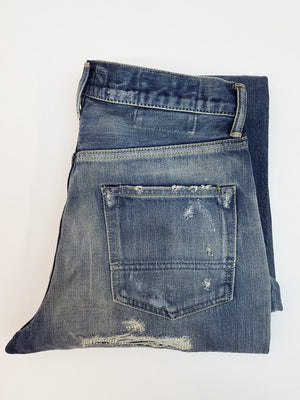 FDMTL Distressed Japanese Selvedge Denim