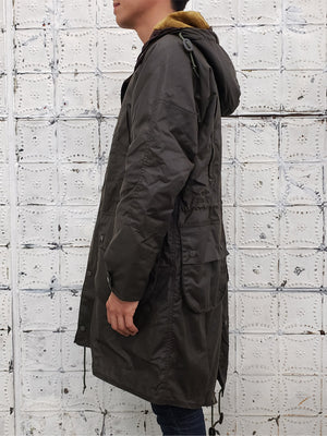 Barbour X Engineered Garments Highland  Waxed Parka in Olive