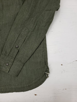 3sixteen Crosscut Western Green Selvedge denim
