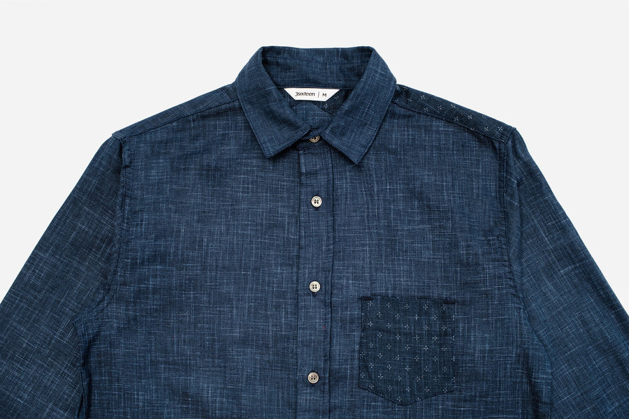 3sixteen Indigo Block Shirt